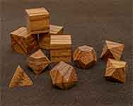 Icons Red Zebra Wood Polyhedral
