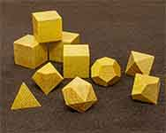 Icons Yellow Heart Polyhedral