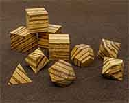 Icons Zebrawood Polyhedral
