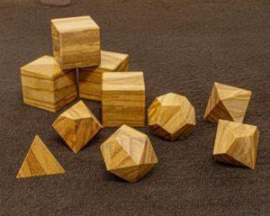 Mediterranean Olive Wood Polyhedral