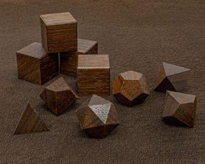 Peruivan Walnut Polyhedral