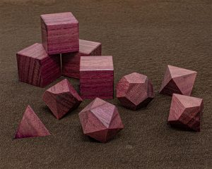 Purpleheart Polyhedral