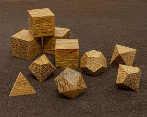 Red Palm Wood Polyhedral