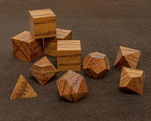 Red Zebra Wood Polyhedral