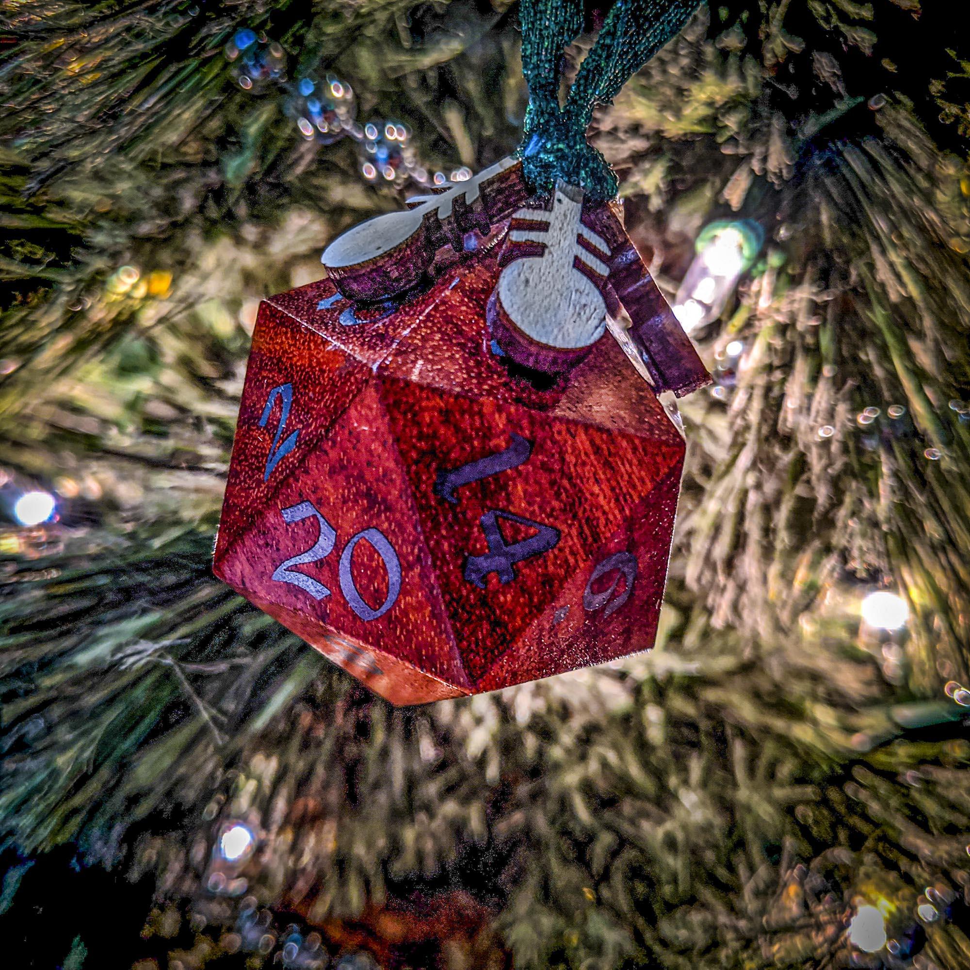 Big Ass D20 Christmas Ornament