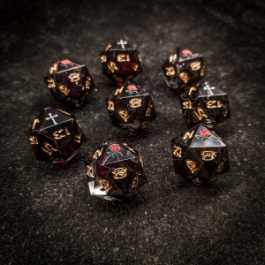 Black Rose Petal D20s